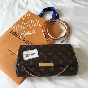 NEW! Louis Vuitton FAVORITE MM Monogram crossbody
